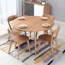 new model solid wood cheap round dining table and chairs