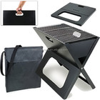 Fer Pliable X-SHAPE Cahier BARBECUE au Charbon de bois barbecue Portable