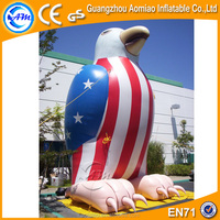 Giant inflatable cartoon, inflatable eagle mascot for sale