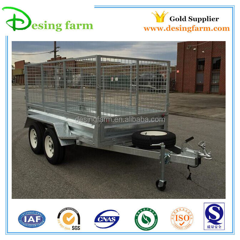 OEM factory new design 4 wheel small farm trailer for sale