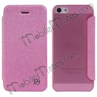 Simple Style HOCO Transparent Silk Pattern PC Hard Leather Case for iPhone 5 5S