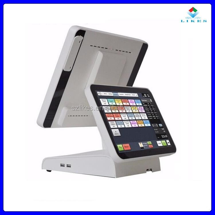 Supermarket android pos terminal machine with restaurant pos hardware and printer