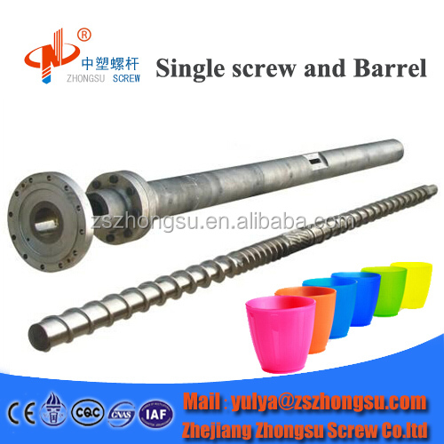 Bimetallic Extruder Screw Barrel for Recycled Plastic Making Machine