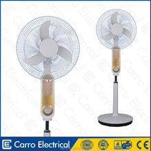 High quality 12V 16'' rechargeable battery air cooler stand emergency fan with battery