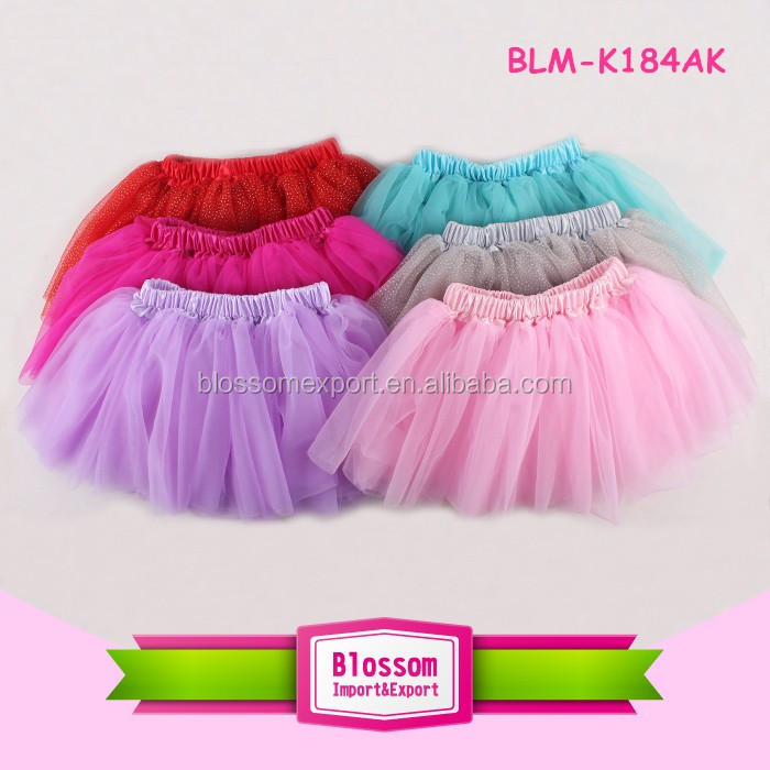 Children Clothing 2016 Bulk Wholesale Latest Design Cheap Multiple Color Tutu Skirt silver glitter Sequin baby Girls Pettiskirt