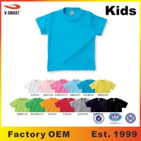 AT023 Kids Preshrunk 180g Blank 100% Cotton T shirt Wholesale 13 Colors 7 Sizes in Stock + Custom Design