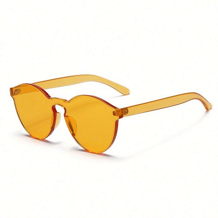 Clear Colorful Plastic Round Sunglasses for women men