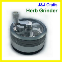 Herb grinder with handle