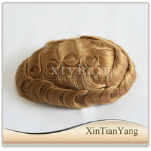 Alibaba Express Hot Sale for Men's Toupee Hair System made from 100% human hair with 32mm wave