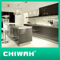 melamine kitchen cabinet high gloss acrylic doors