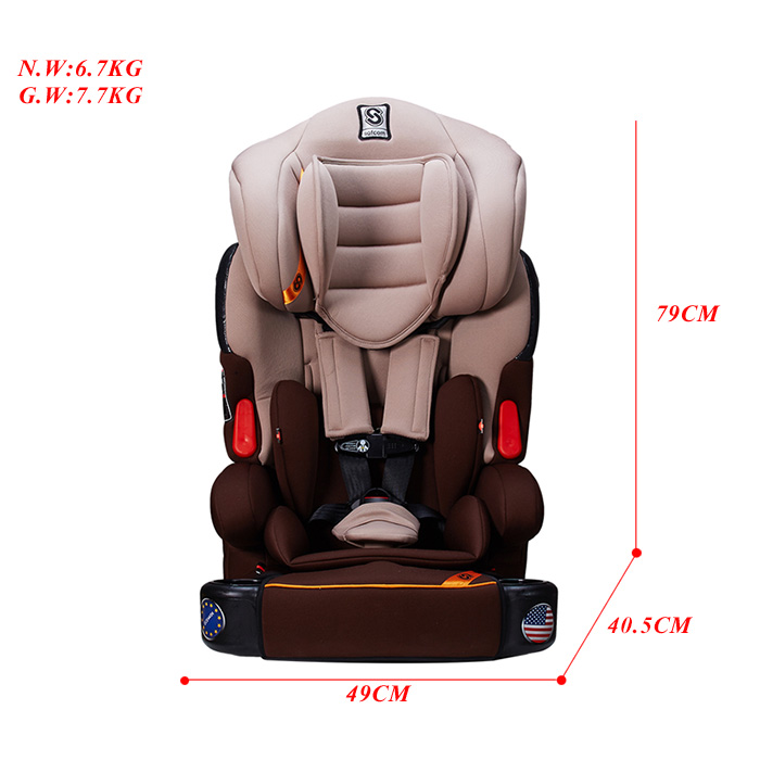 YY04 ECE R44/04 China Made Child safety car seat for Group1+2+3 (9-36kg )