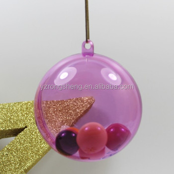 Plastic Christmas Balls With OpeningInflatable Clear Plastic Ball