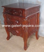 Antique Bedside 2 Drawers - French Furniture Style - Indonesia Furniture