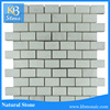China calacatta oriental white marble with gray veins basketweave marble mosaic tile