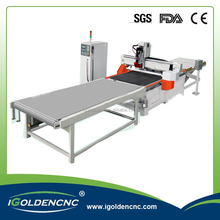 high-end type Nesting loading and unloading system cnc furniture carving machinery/woodworking cnc router machinery