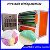 high efficiency ultrasonic fabric cutting machine with two cross roller cut