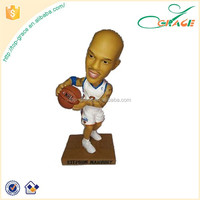 custom personality star resin figurines shake head nba champions league football star bobble head