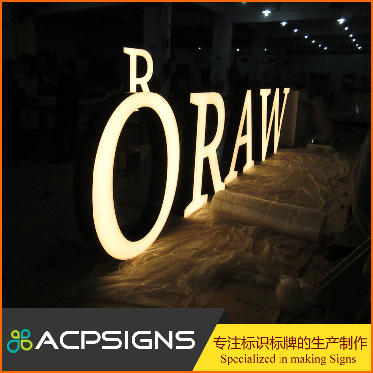 Outdoor Waterproof Signage 3D LED Channel Letter Sign For Business Shop Or Company