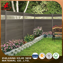 outdoor temporary wooden plastic water proof wpc fencing for sale