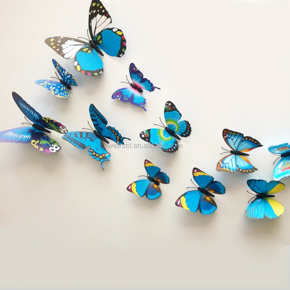 3d Diy Butterfly Home Decor Removable Wall Sticker 12pcs