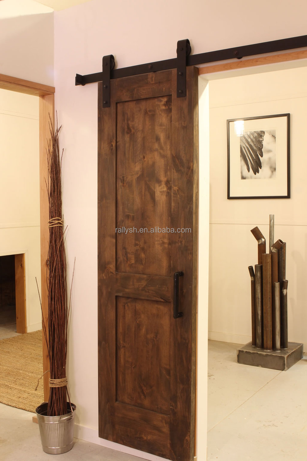 Modern sliding barn door hardware interior sliding for Sliding entry doors