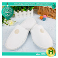 Polyester Velvet Pile Hotel Slippers / Luxury Velour Pile Closed Toe Guest Slippers / Bulk Disposable Terry Towel EVA Slippers