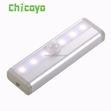 CHICOYO 6 led Security Motion Sensor LED Cabinet Lighting battery operated led light bar with 3M sticker for safe and kitchen