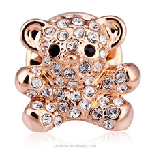 Hot Selling Good Quality Bear Crystal brooch for wedding, Rose Gold Brooches Accessories