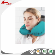 NRE17-084 New Design U shape Travel Neck Pillow in Automatic Inflatable Portable Fabric