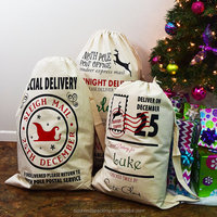 Jute/Canvas Christmas Santa Sack