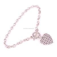 B700014-1 Huilin Jewelry zinc alloy Heart Autism Awareness Toggle charm Bracelet