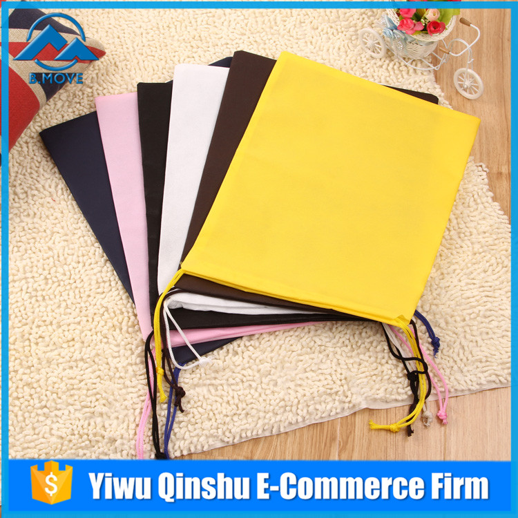 Latest Arrival simple design Non-Woven Drawstring Shoe Bag Buggy Bag shoe and bag with good offer