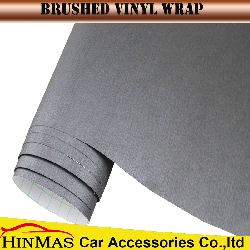 air free bubbles 1.52*30m brushed steel vinyl wrap car body wrap
