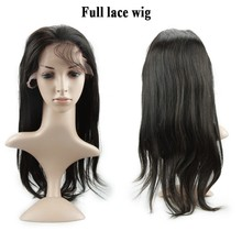 Christmas sale cheap 18 inches 100 virgin straight Brazilian hair full lace wig
