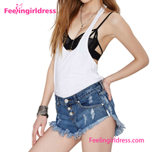 Women Trendy Short Latest Model Jeans Top Wholesale Girls Pants Price