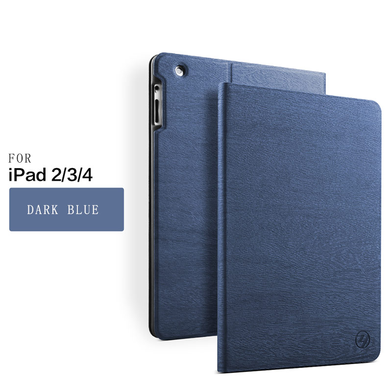 Fashion Designs protective sleeve Folder Stand Tree Texture Series PU Leather case for iPad 9.7 2018/2017