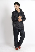 Reflective Pvc Rainsuit/Plastic Rain Suits nylon raincoat black