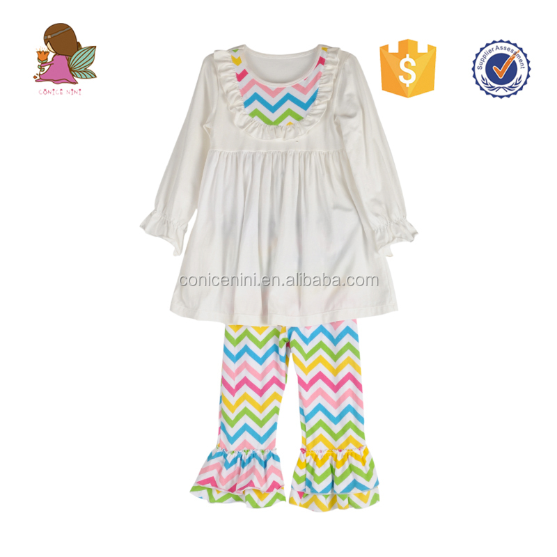 Conice nini rainbow chevron wholesale children's boutique clothing