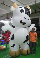 High quality outdoor giant inflatable cow size cartoon for advertising