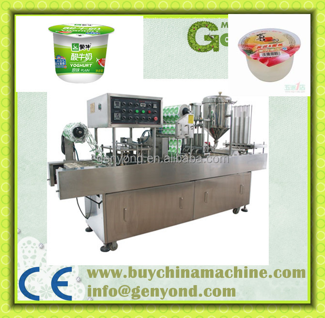 High Efficiency Jelly Pudding Cups Filling Sealing Machine