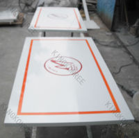 CNC Carving Table Tops/solid surface Tops with Logo/TV Cabinet Table Tops