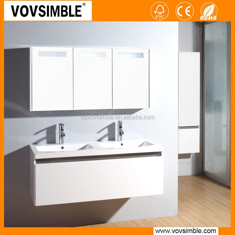 New product 2016 modern waterproof mdf vanity bathroom for Waterproof bathroom cabinets