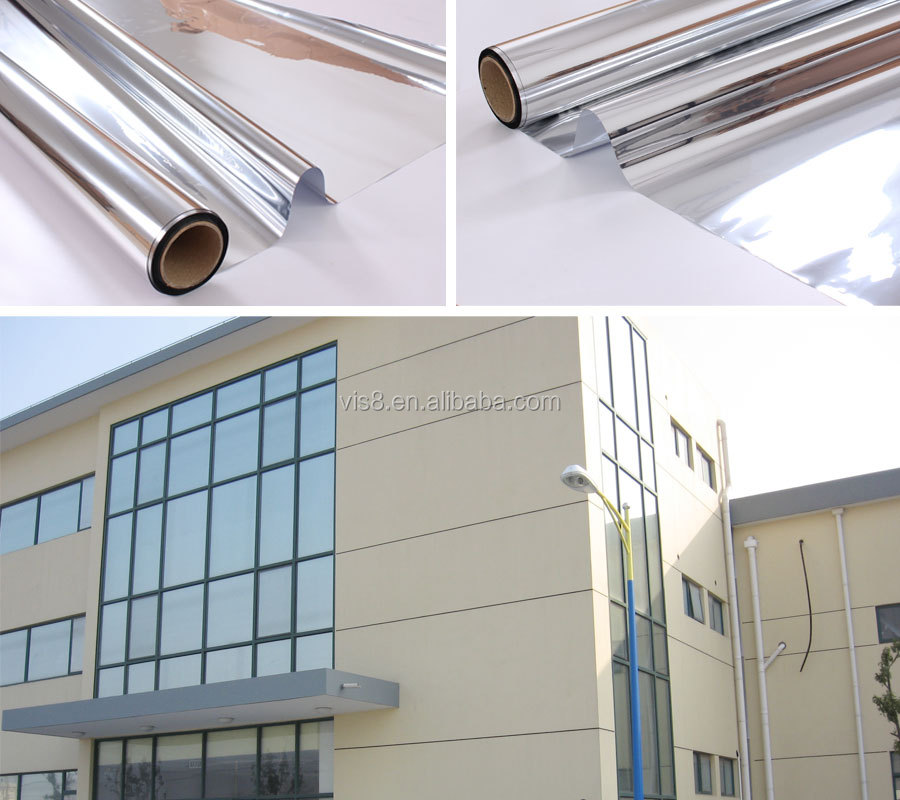 Window Film Premium Color High Heat Control and Daytime Privacy Silver window film