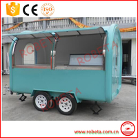 Factory Direct Sale Customized Stainless Steel Fast Food Truck Made In China/ Food Cart