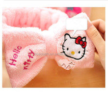 2016 beauty coral velvet hair <strong>headband</strong> hello kitty yoga <strong>headband</strong>