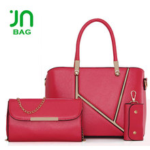 JIANUO 3 pieces ladies bangkok bags set leader bags handbag set for lady