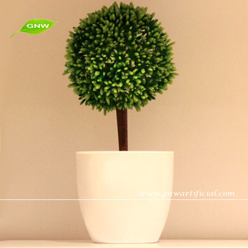 GP003-1GNW mini bonsai flower plants with ornamental flower pot for office decoration and hotel room accessories