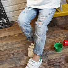 KS40773G 2016 new arrival super fashion popular cheap kids damaged jeans