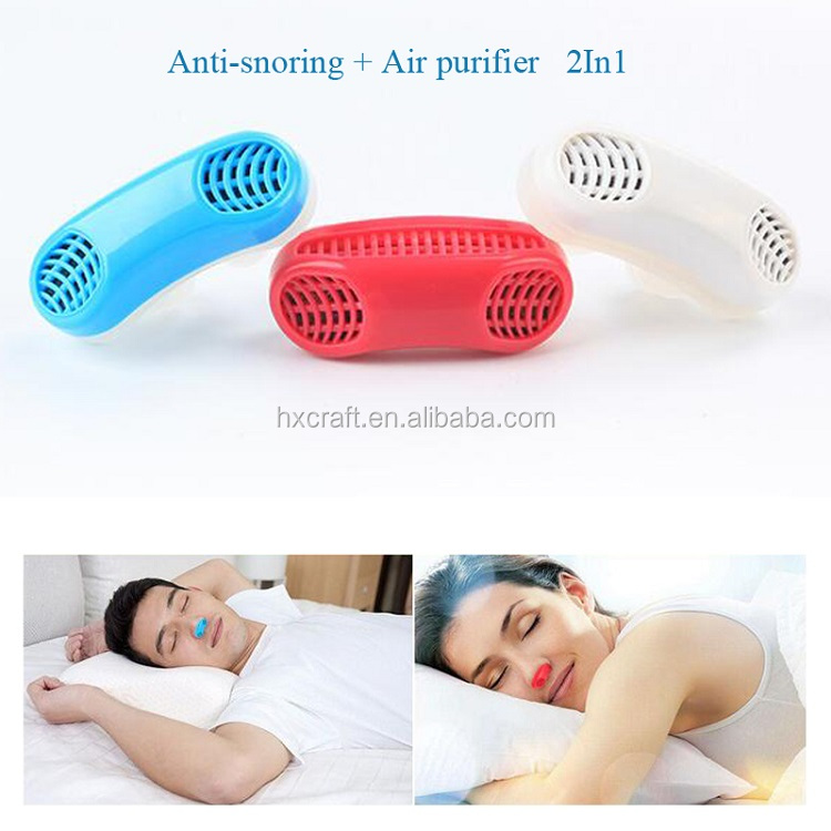 New Anti Snoring and Sleeping Breath Aid Snore Stopper Device Air Purifier Nasal Dilator Relieve Stuffy Nose Device