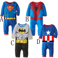 newborn superhero children character costume wear